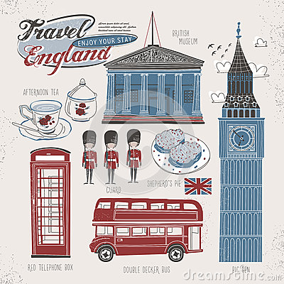 London Eye View Stock Vector.