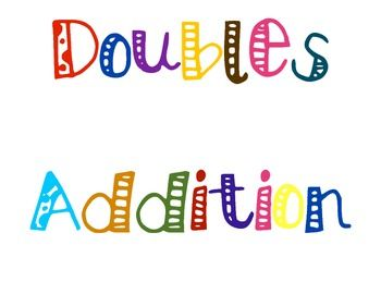 Gallery For > Doubles Math Fact Clipart.