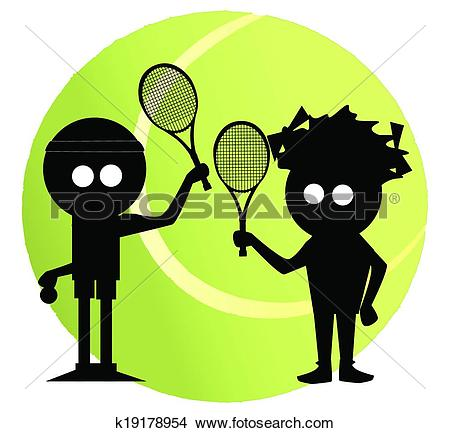 Clipart of Mixed Doubles k19178954.