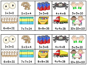 Common Worksheets » Doubles Addition.