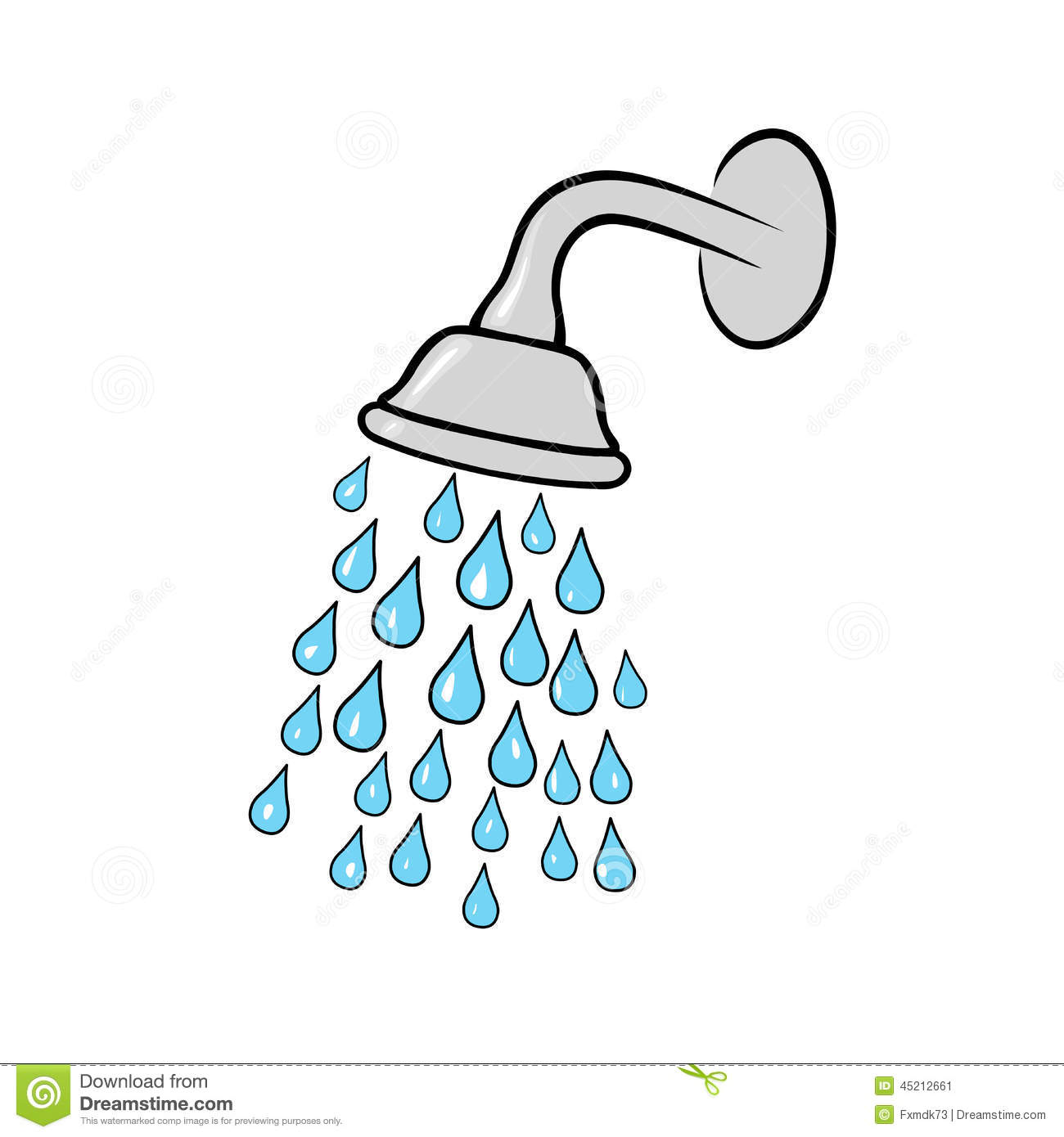 Shower Head Icon Stock Vector.