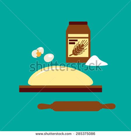 Flour On Board Stock Photos, Royalty.