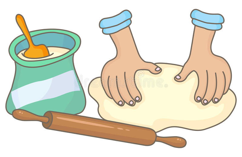 Dough Stock Illustrations.