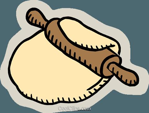 rolling dough Royalty Free Vector Clip Art illustration.