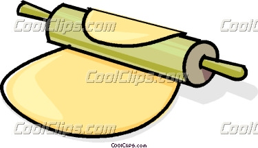 Dough Rolling Pin And Clipart.