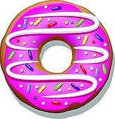 Doughnut Clip Art and Illustration. 2,729 doughnut clipart vector.