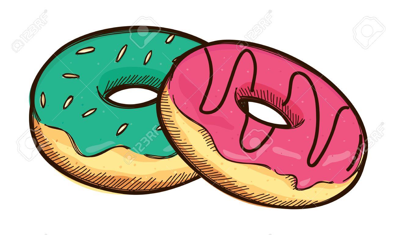 Green doughnut clipart.
