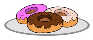 Donuts Clipart Image.
