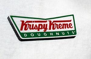 Details about Krispy Kreme Donut T Shirt Tee Doughnuts Logo Graphic Tee  White L XL 100% Cotton.