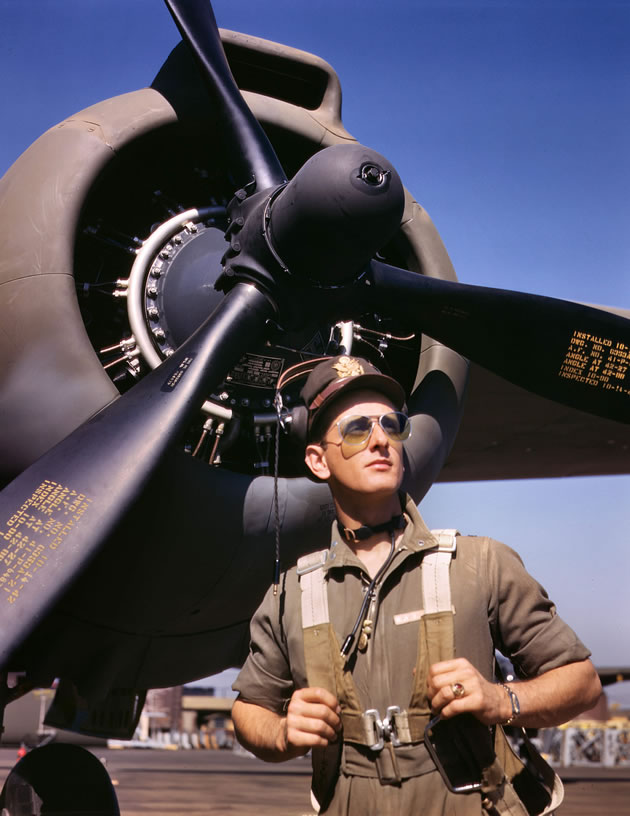 Kodachrome Photo ★ Lieutenant Mike Hunter, Army test pilot.