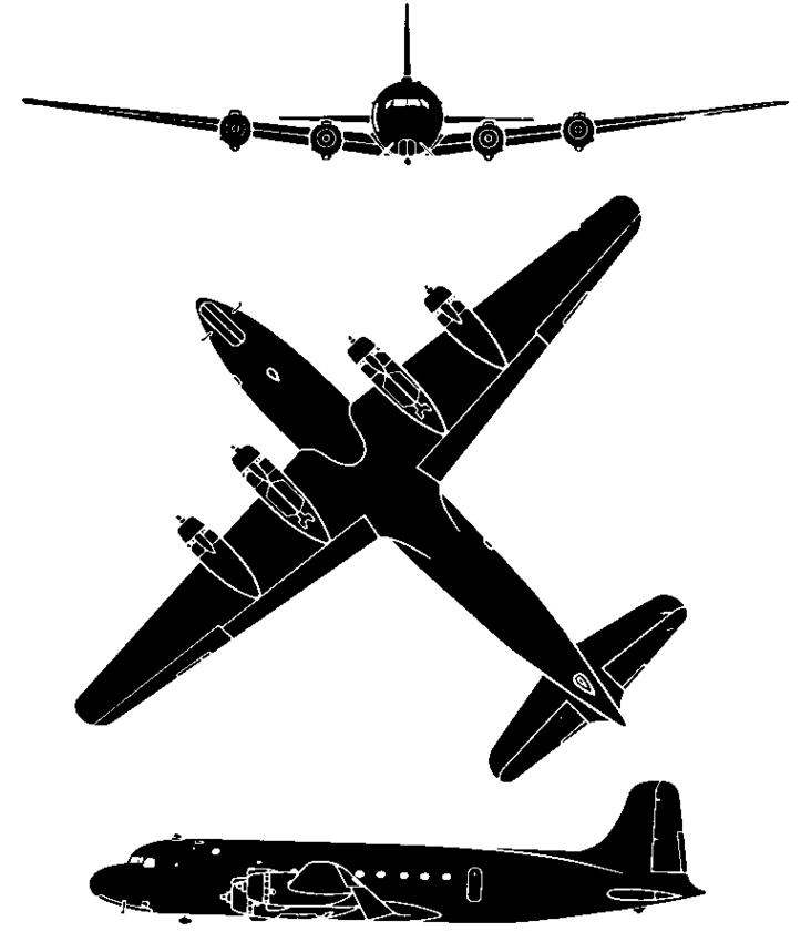 Douglas C 54 Skymaster Clipart.