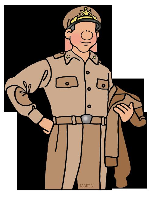 Free Military Clip Art by Phillip Martin, Douglas MacArthur.