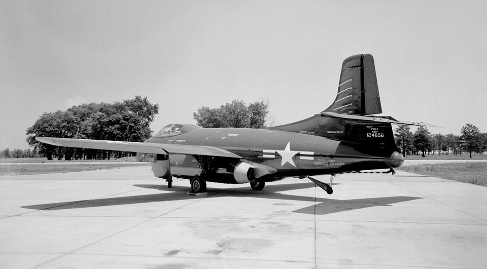 Free photo F3d Skyknight Us Navy Twin Engined Jagdflugzeug.