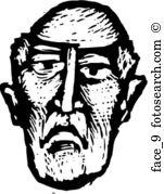 Dour Clipart Illustrations. 8 dour clip art vector EPS drawings.