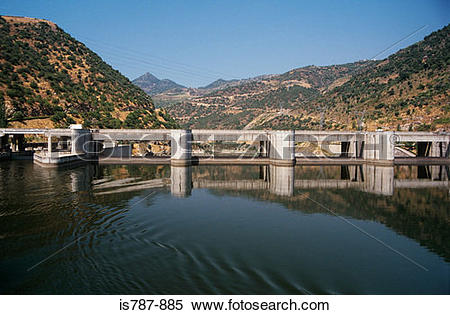 Stock Image of Pocinho dam douro valley is787.