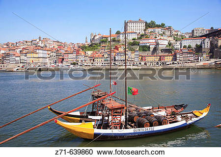 Stock Photography of Portugal, Douro, Porto, Ribeira district.