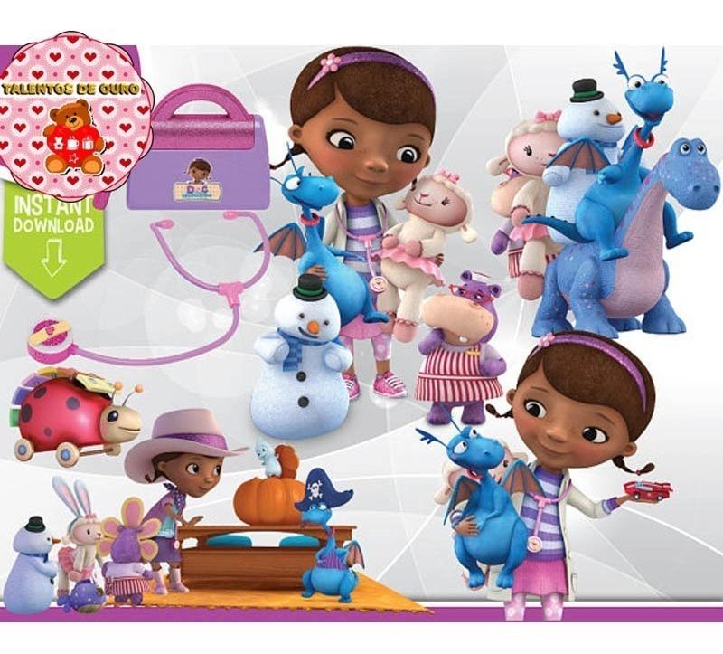 Kit Digital Doutora Brinquedos Clipart Scrap Png.