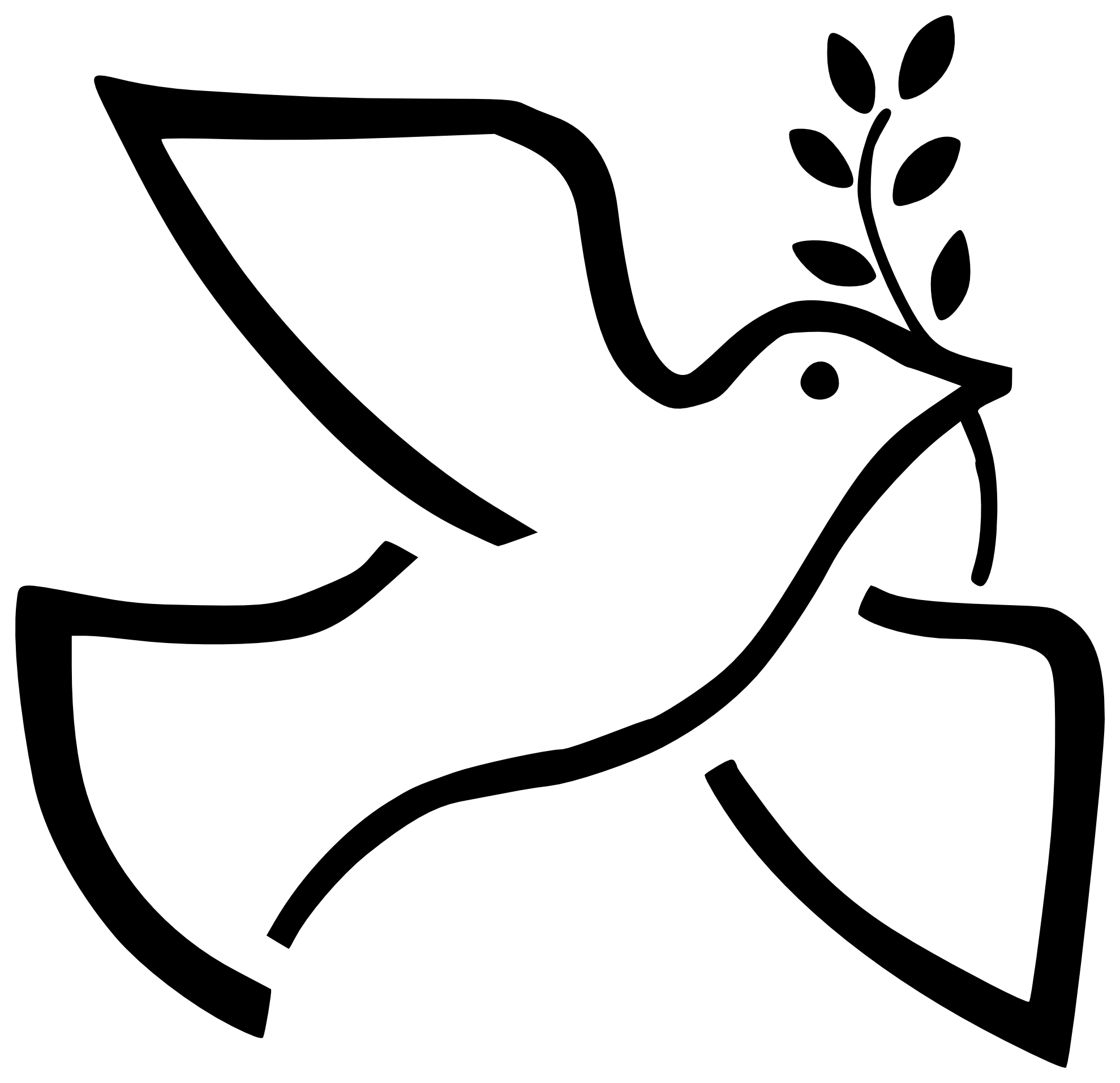 Dove And Cross Clipart.