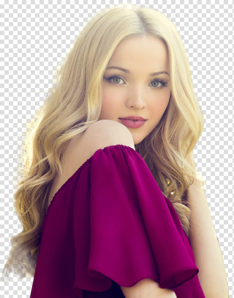 Dove Cameron, woman wearing pink off.