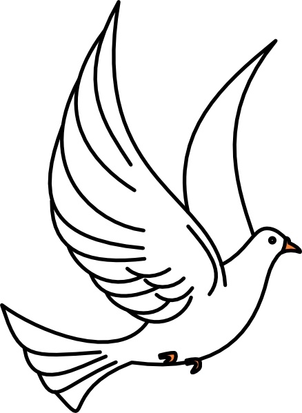 Flying Dove clip art Free vector in Open office drawing svg ( .svg.