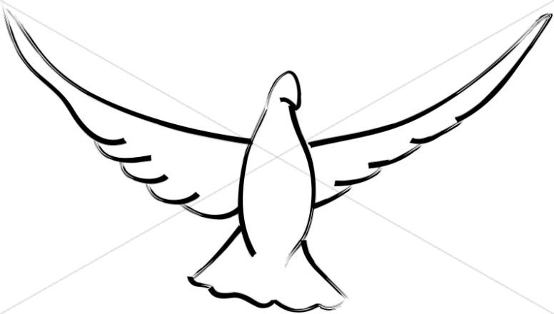 Dove Clipart, Art, Dove Graphic, Dove Image.