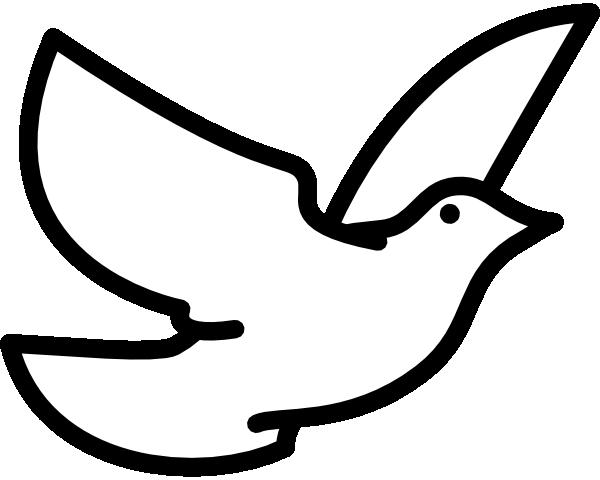 Simple Dove Clipart.