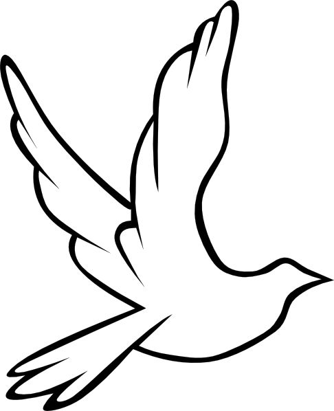 Simple Outline Of A Dove.
