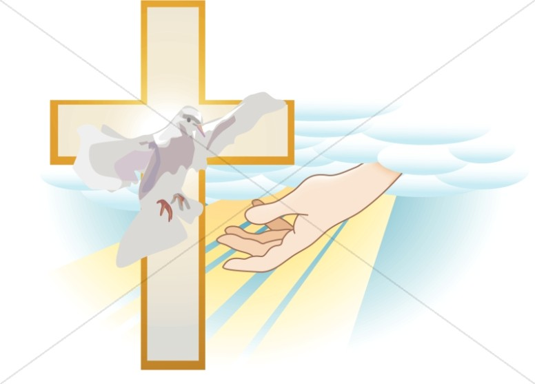 Hand of God with Cross and Dove.