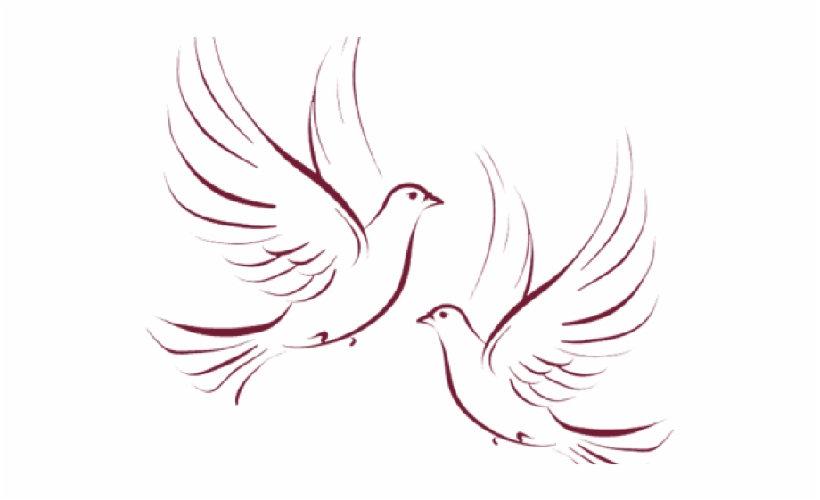 Vector Free Library Wedding Doves Clipart.