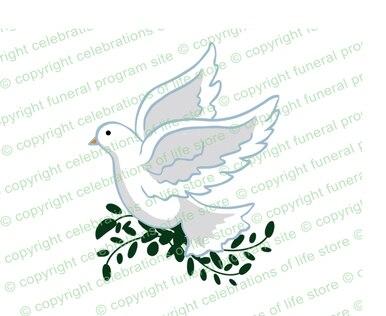 White Dove Funeral Clip Art.