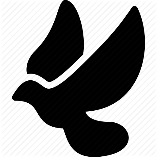 Bird, creative, dove, doves, grid, peace, shape, sign, wings icon.