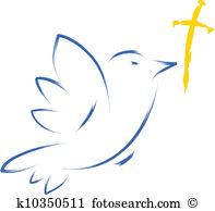 Cross dove Clipart EPS Images. 454 cross dove clip art vector.