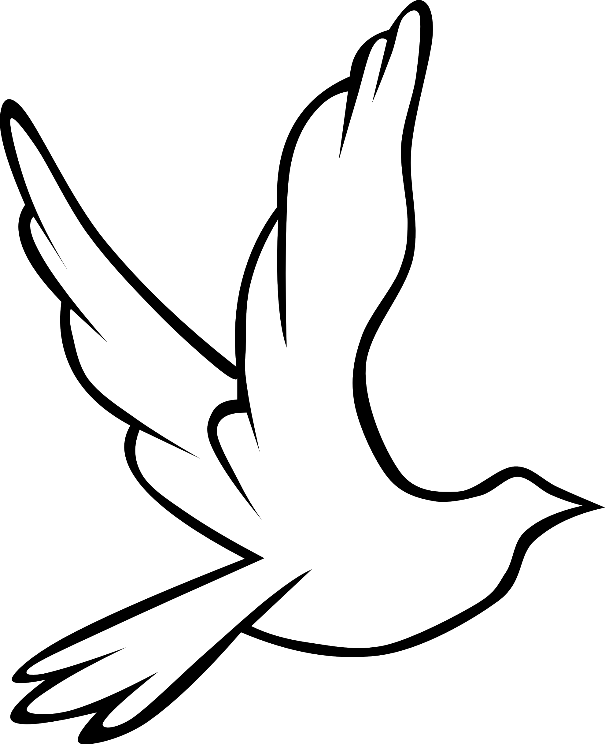 Clipart peace dove.