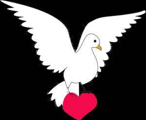 Clipart peace dove.