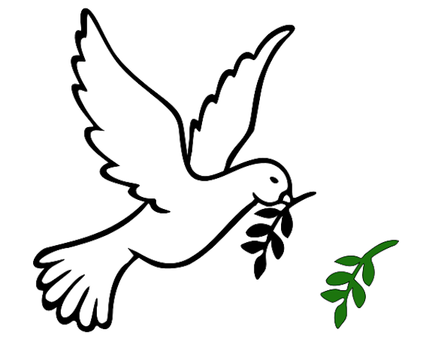 Dove bird peace sign - photo#36