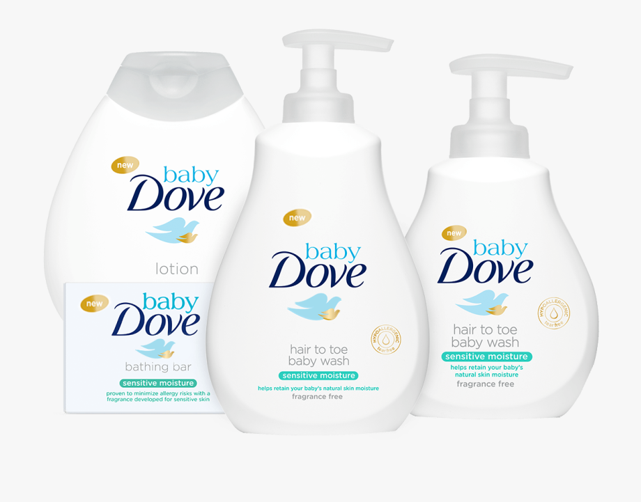 Dove Soap Baby Wash Bottle.