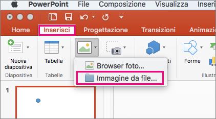Dove sono le ClipArt in PowerPoint 2016 per Mac?.