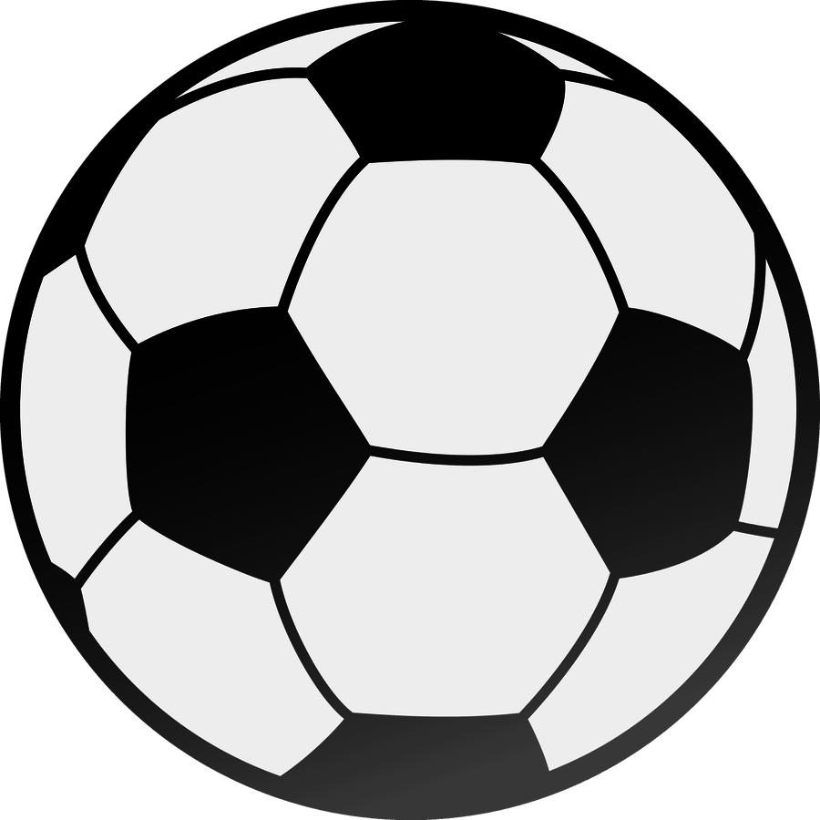 Half soccer ball clipart.