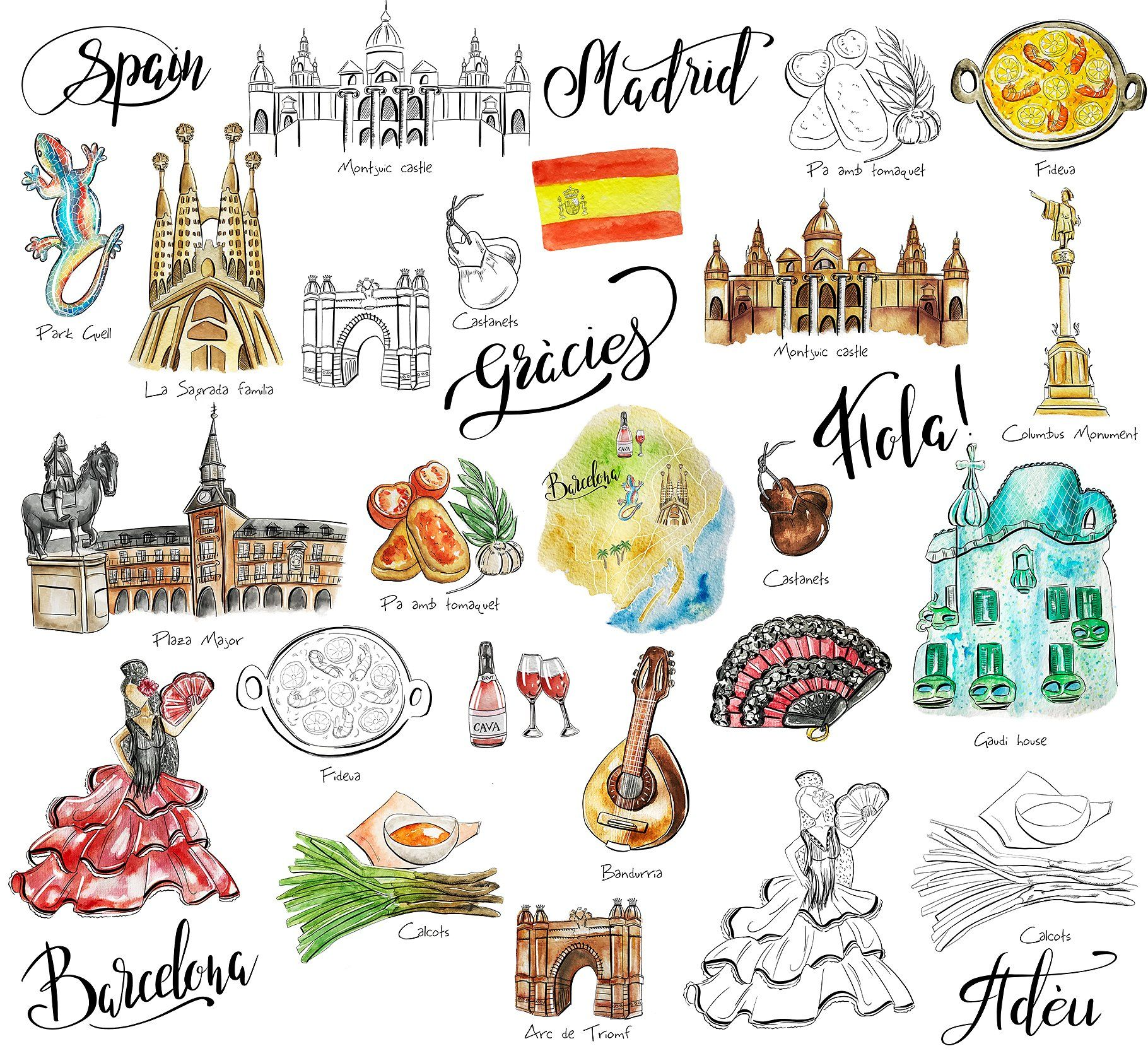 Travel Spain clipart #background#transparent#digital#perfect.