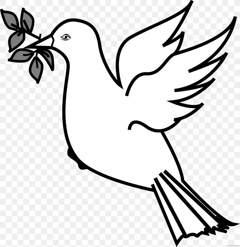 Clip Art Olive Branch Doves As Symbols Openclipart Pigeons.