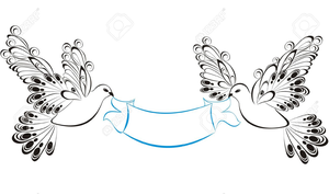 Dove And Ribbon Clipart.