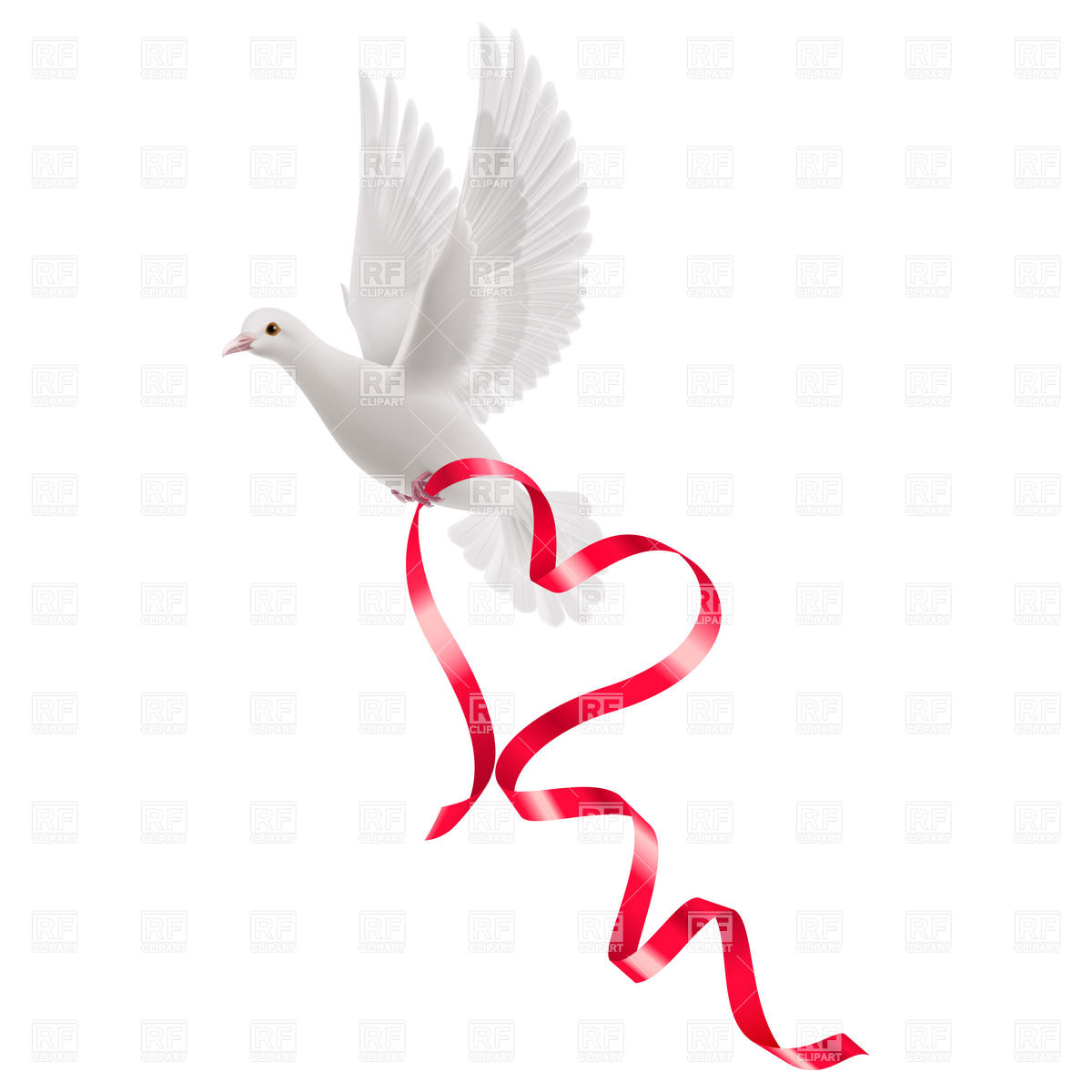 Dove with ribbon clipart 7 » Clipart Station.