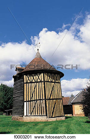 Stock Photography of dovecot, Villers en Ouche, Normandy, Europe.