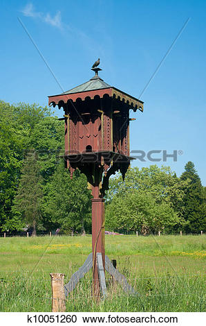 Stock Photography of wooden dovecote k10051260.