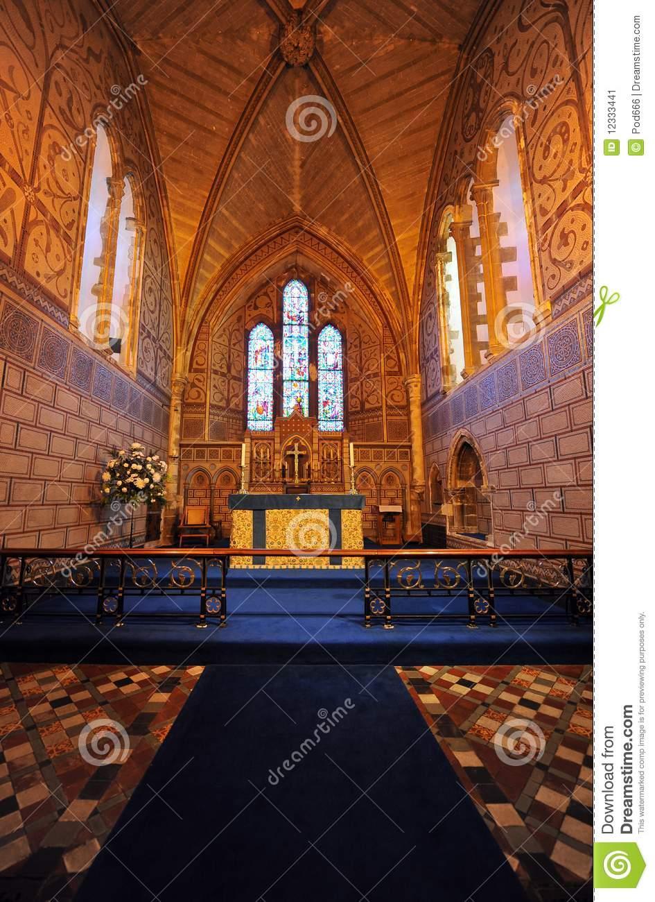 Dover Castle Saxon Church Interior Stock Image.
