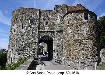 Stock Photography of Dover Castle in Kent, England. csp16044618.