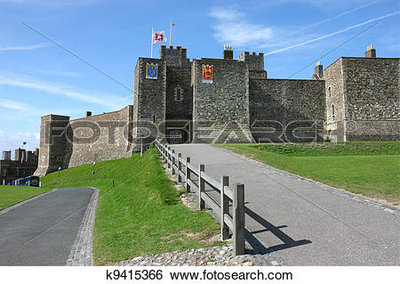 Stock Images of Dover Castle in Kent county k9415366.