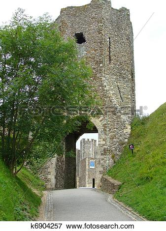 Picture of Entrance to Dover Castle in England k6904257.