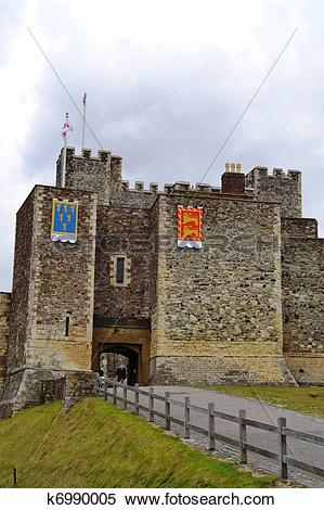 Stock Image of Dover Castle in England k6990005.