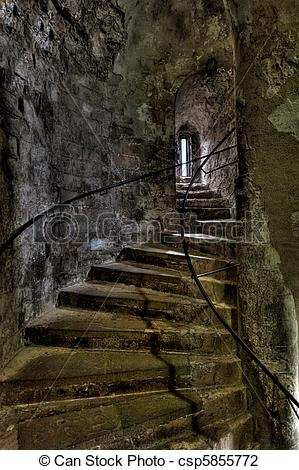 Stock Photo of Dover Castle spiral staircase csp5855772.